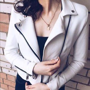 White slim jacket